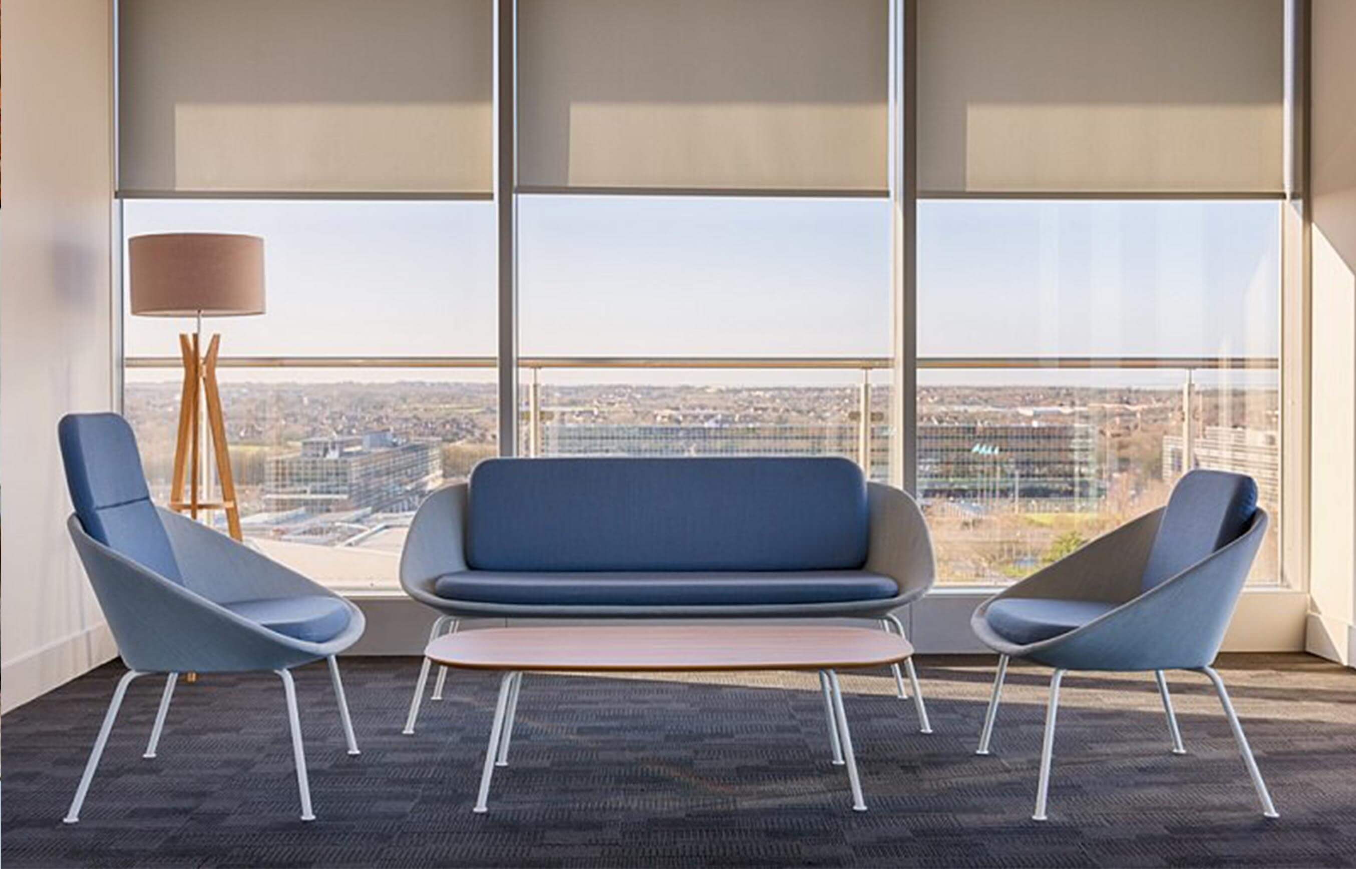Gray Dishy Office Soft Seating Parallax