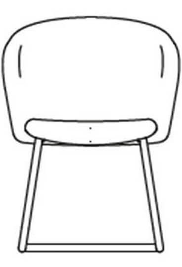 junea low back upholstered cantilever base hover img line drawing