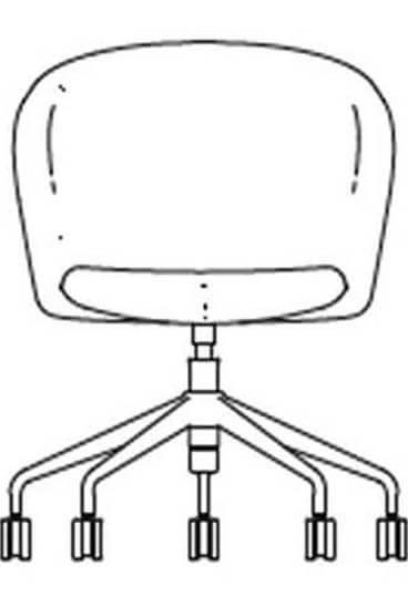 junea low back upholstered five star castors base hover img line drawing