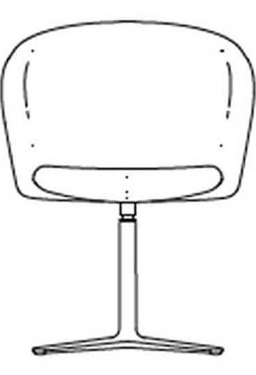 junea low back upholstered four star base hover img line drawing