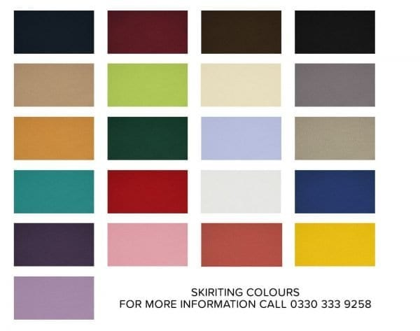 Stage skirting colours