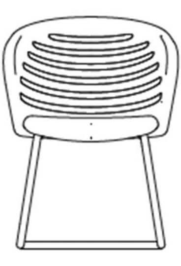 junea mesh lowback cantilever base line drawing 1