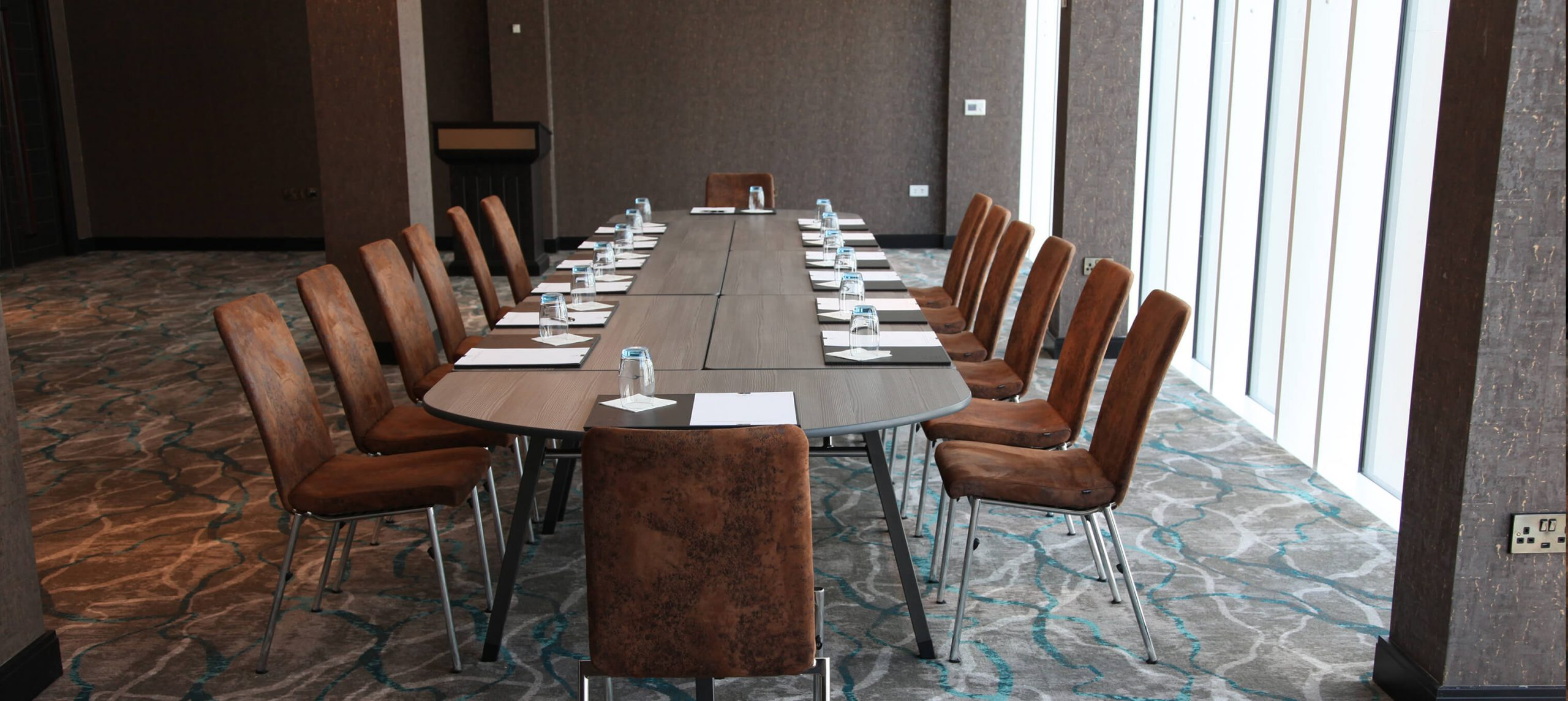Evosa Chairs around A-Fold meeting tables