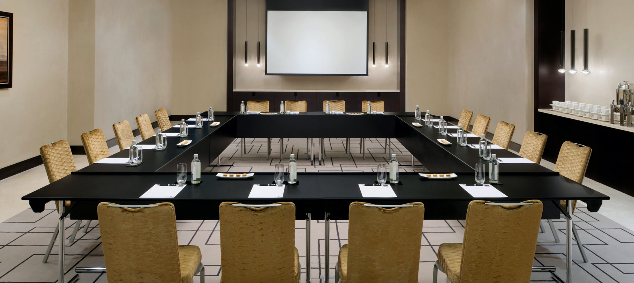 Conference room featuring Orvia Chairs & System C Tables