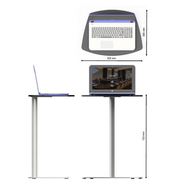 Freestanding Laptop Table Dimensions 1