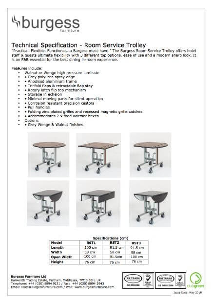 Product Specifications - Burgess Furniture