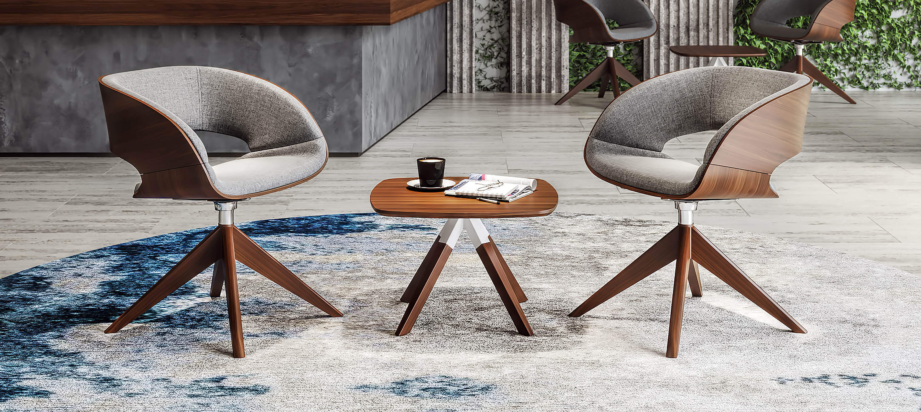 A-Cross Coffee Table & Junea Soft seating