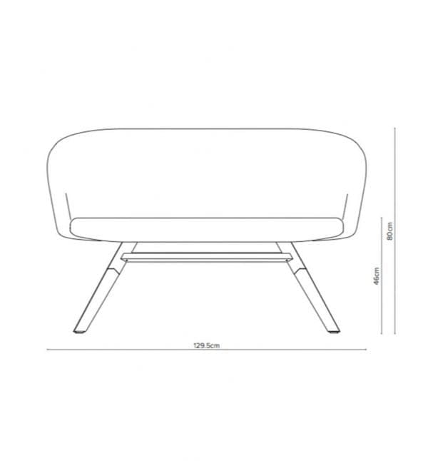 junea low back sofa measurements
