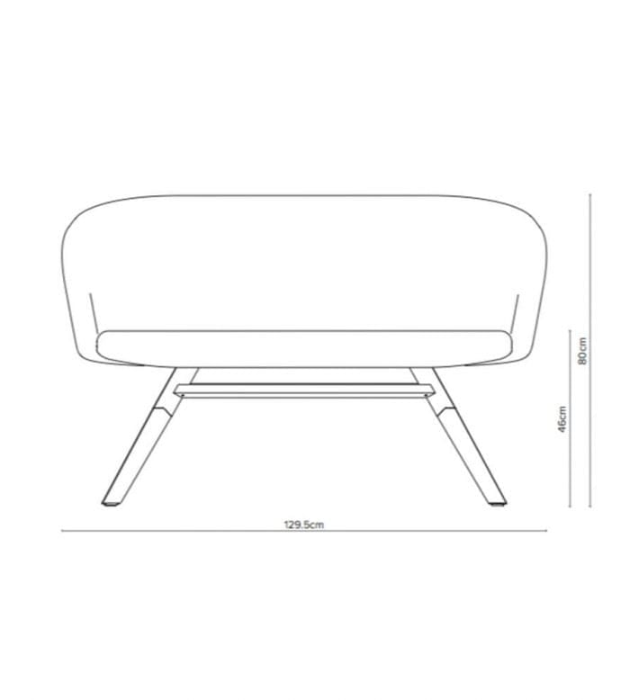 junea low back sofa measurements