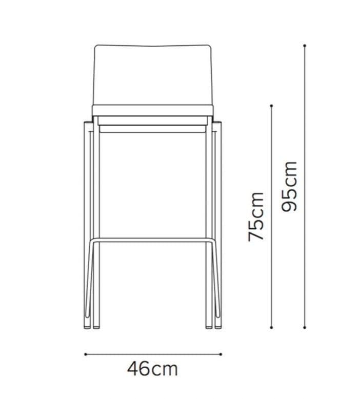 08 12l eovsa high chair line drawing