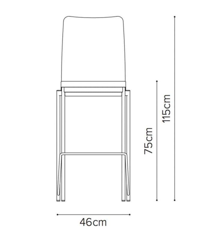 evosa 08 12h high chair line drawing
