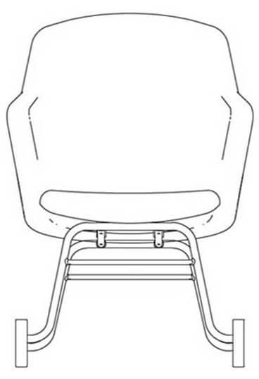 junea highback upholstered rocker base line drawing 368x539 1