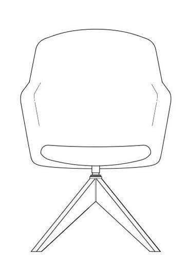 junea upholstered highback a cross wooden base line drawing 368x569 2