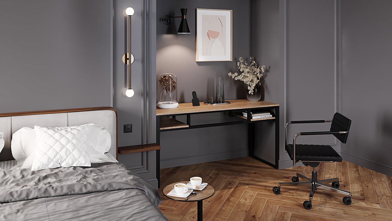 Hotel open concept desk